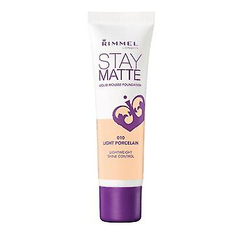 Rimmel London Stay Matte Liquid Mousse Foundation Shine Control 30ml Light Porcelain #010