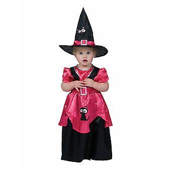 Pikku noita puku tyttö Taaperat pukeutua noita Halloween lasten puku karnevaali
