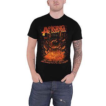 Fragen Alexandria T Shirt Metall Hand Band Logo neue offizielle Herren schwarz