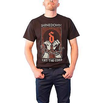 Shinedown T Shirt Cut the Cord Band Logo Official Mens New Black