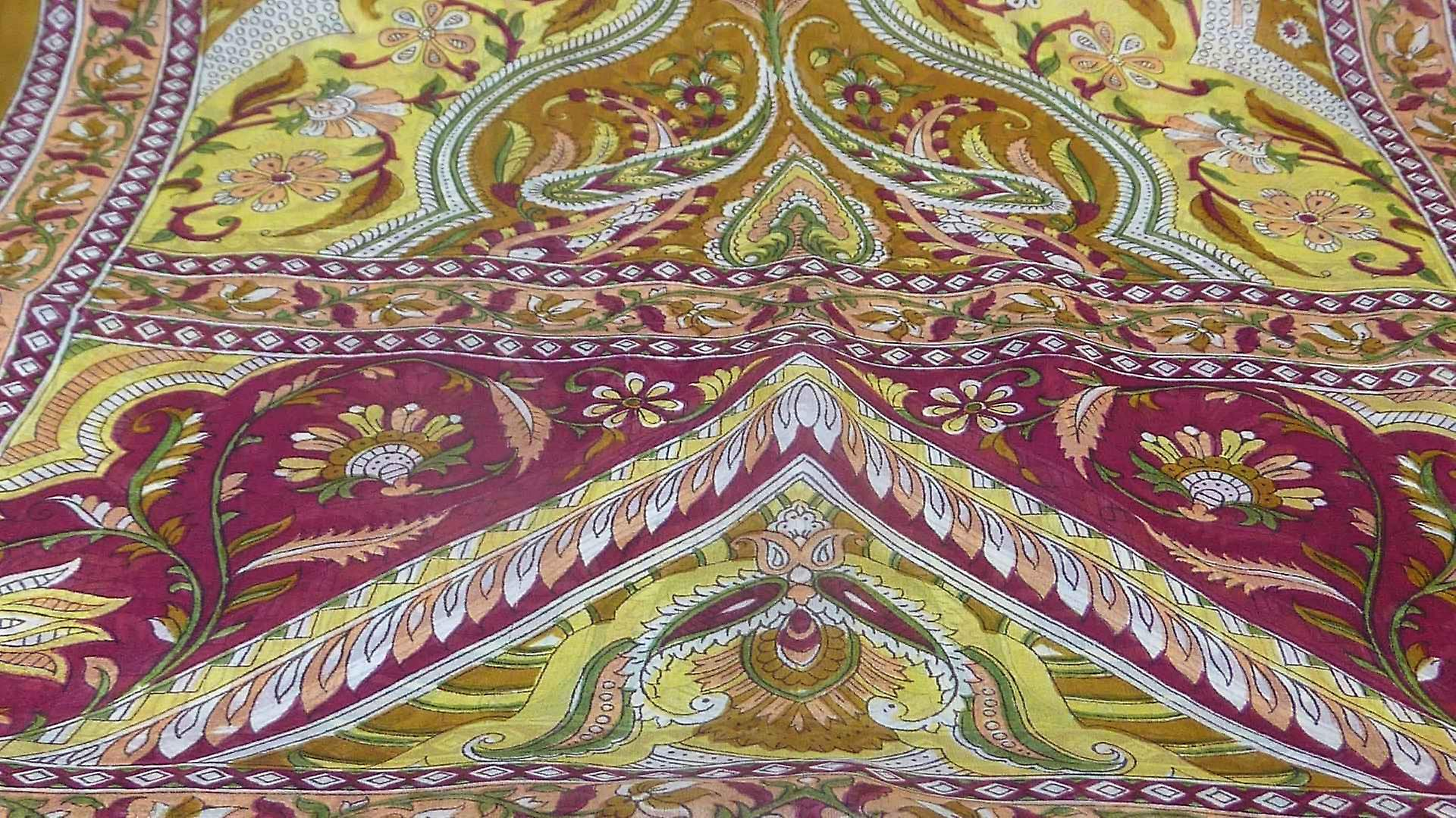 Mulberry Silk Traditional Long Scarf Sakhar Chestnut by Pashmina & Silk