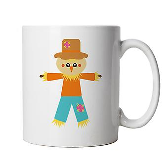 Scarecrow Mug | Halloween Fancy Dress Costume Trick Or Treat | Hallows Eve Ghost Pumpkin Witch Trick Treat Spooky | Halloween Cup Gift