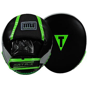 Title Boxing Matrix Heavy Hitters Punch Mitts - Black/Neon Green