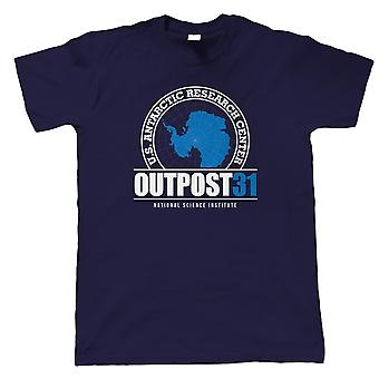 Outpost 31 The Thing Movie Inspired Mens T-Shirt   Horror Sci-Fi Gift Him Dad