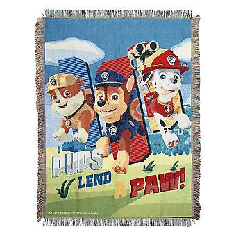 Woven Tapestry Throws - Paw Patrol - Lend A Paw New 024967