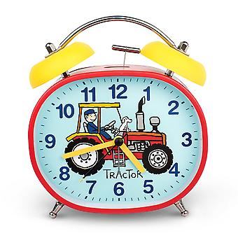 Tyrrell Katz Traktor Design Kinder's Wecker Twin-Glocke Silent Tick