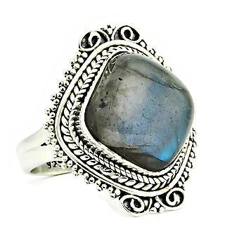 Ring 925 Silber mit Labradorit 56 mm / Ø 17.8 mm (KLE-RI-066-05-(56))