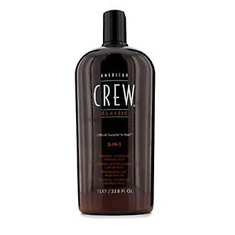 American Crew Men 3-in-1 Shampoo Conditioner & Body Wash - 1000ml/33.8oz