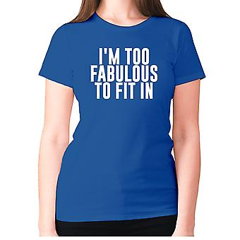 Naisten Funny Gym t-paita isku lause tee hyvät harjoitus-olen ' m liian upea sovi