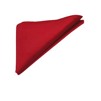 Luxury Rosso Red Velvet Pocket Square