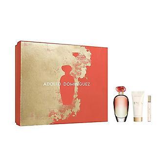 Vrouwen ' s parfum set Unica koraal Adolfo Dominguez (3 stuks)