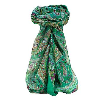 Mulberry Silk Traditional Square Scarf Nadia Jade by Pashmina & Silk