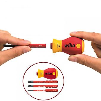 Wiha Tools VDE Stubby Slimline Screwdriver Set (3Pc)