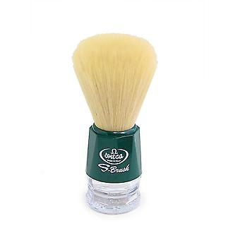 Omega S-Brush Synthetic Shaving Brush Green 10018