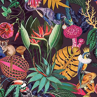 Wonderland Tropisch behang Plum Holden 91192