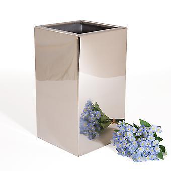 المزهريات الفضية Dekovase زهرة زهرية الجدول الفضة كروم 15 × 30 سم
