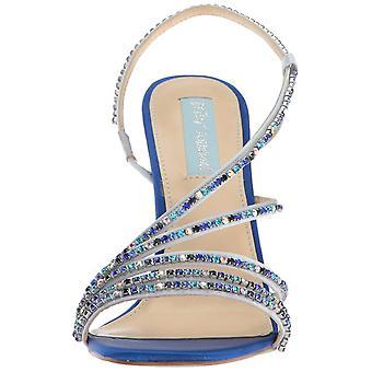 Betsey Johnson Womens Sb-Aces Fabric Open Toe Bridal Slingback Sandals