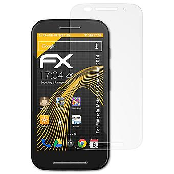 atFoliX Glass Protector compatible with Motorola Moto E 1. Generation 2014 9H Hybrid-Glass