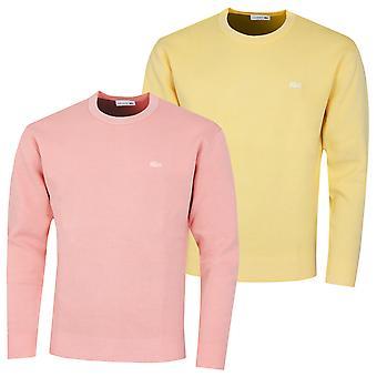 Lacoste Hombres AH7348 Cuello acanalado manga larga suéter ligero Pique