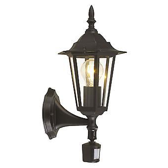 Eglo Laterna 4 - 1 Lanterna de Parede Ao Ar Livre Leve com sensor PIR Black IP44 - EG22469