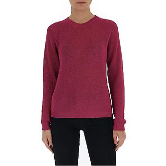 Laneus Mgd1264cc8ciclamino Women's Burgundy Cotton Sweater