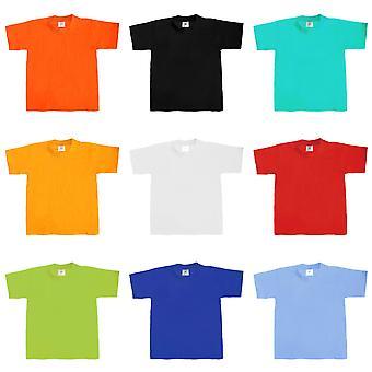 B&C Kids/Childrens Exact 190 Short Sleeved T-Shirt (Pack of 2)