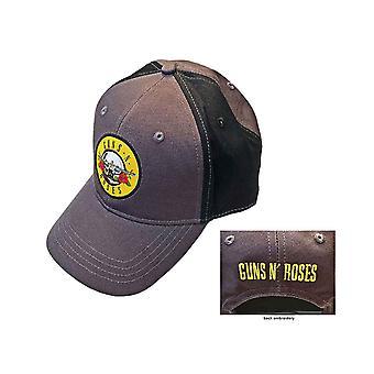 Guns N Roses Lippis Circle Band Logo uusi virallinen 2 Sävy Harmaa Strapback