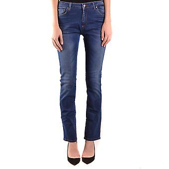 Brian Dales Ezbc126028 Women's Blue Cotton Jeans