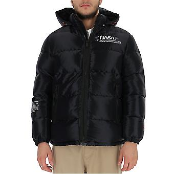 Heron Preston Hmed003f197830181088 Men's Black Nylon Down Jacket