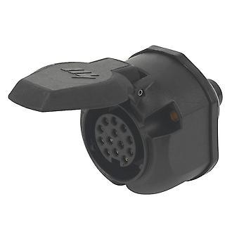 New Maypole 12V 13 Pin Plastic Socket Black