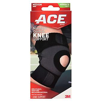 Ace brand moisture control knee support, black, medium, 1 ea