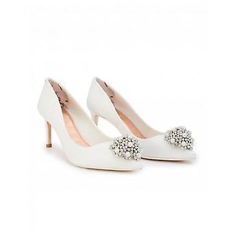 Ted Baker Shoes Darlils Brooch Front Satin Court Shoes