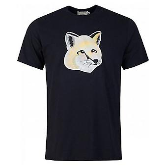 Maison Kitsune Embroidered Pastel Fox Head T-Shirt