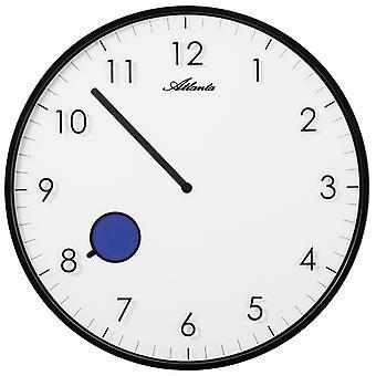 Atlanta 4431/7 wall clock quartz analog black approximately flat with color changing