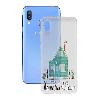Couverture mobile Samsung Galaxy A40 Contact Flex Home TPU
