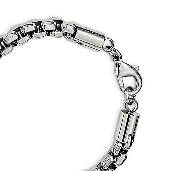 8.23mm Stainless Steel Polished Fancy Box Bracelet 8.75 Inch Jewelry Gifts for Women