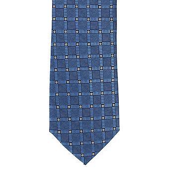 Michelsons av London Diamond Grid Polyester slips - blå