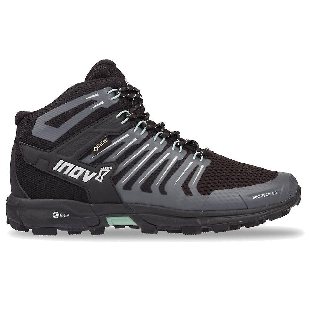 Inov8 Roclite 345 Gtx Graphene (g-grip) Womens Waterproof Trail Running Boots Black/green 0EmaJ