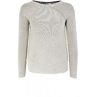 Oui Licht Stein gerippt stricken Pullover