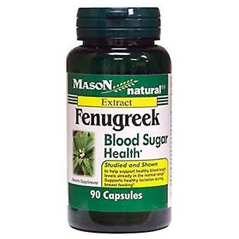 Mason natural fenugreek blood sugar health, capsules, 90 ea