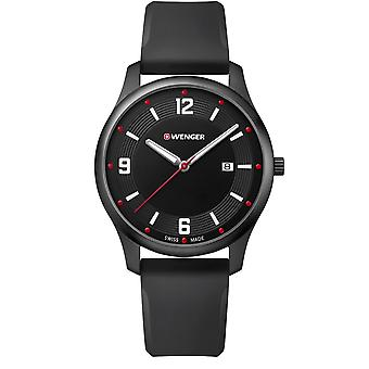 Wenger City Active Black Dial Black Silicone Strap Men's Watch 01.1441.111 RRP £109