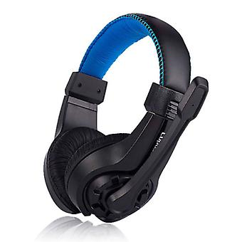 Lupuss G1 Headphones with Microphone Headphones Stereo Gaming for PlayStation 4 Blue