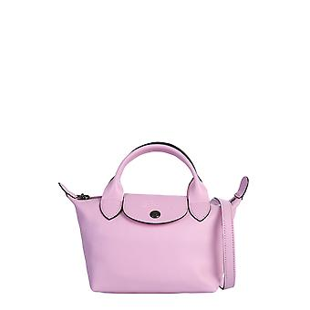 Longchamp 1500757p36 Women's Pink Leather Shoulder Bag