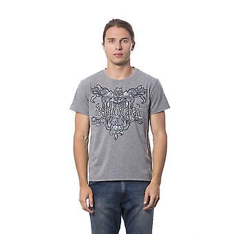 Grey Melange Print T-shirt