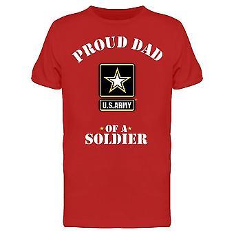 Proud Dad Of A Soldier Men's T-shirt