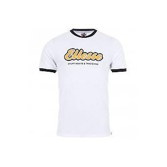 Ellesse Maccio Cotton Rubberised Logo White T-shirt