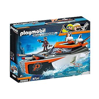 playmobil 70002 top agents spy team turbo ship playset 47pcs for ages 6 and