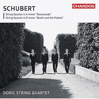 F. Schubert - Schubert: Quatuor Rosamunde; Quatuor à cordes de mort et la jeune fille [CD] USA import
