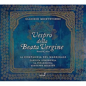 Monteverdi / La Compagnia Del Madrigale - Claudio Monteverdi: Vespro Della Beata Vergine [CD] USA import