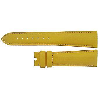 Authentieke omega horlogeband 19mm geel kalfsleer